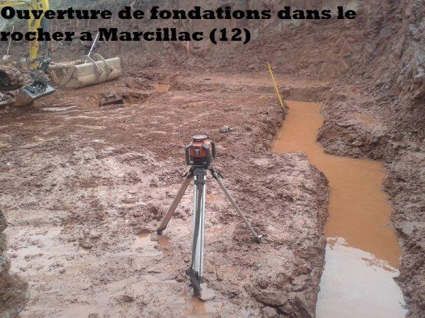 Ouverture de fondations dans le rocher a Marcillac (12)