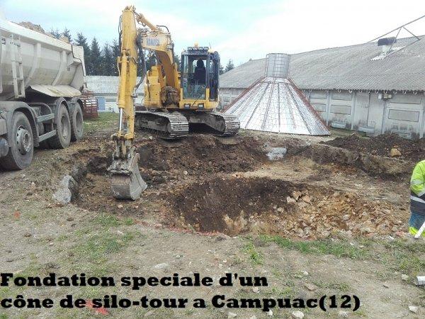 Fondation d'un cône de silo-tour Campuac (12)