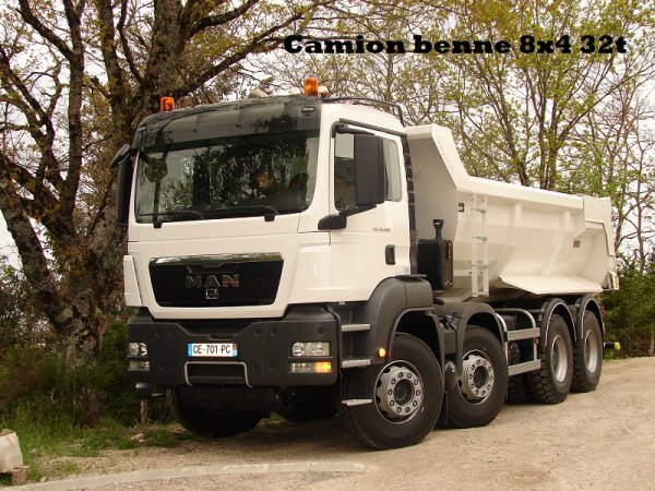 Camion benne 8x4 32t