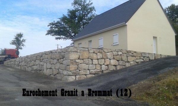 Enrochement granit Brommat