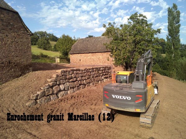Enrochement granit Marcillac