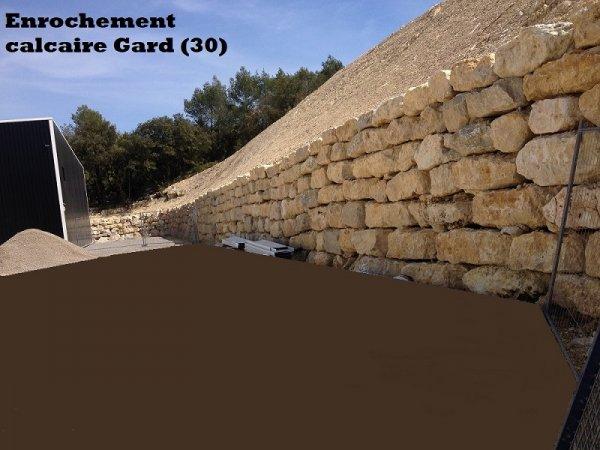 Enrochement calcaire Gard (30)
