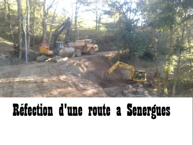 Réfection d'une route a Sénergues .