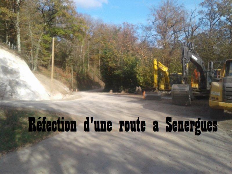 Réfection d'une route a Sénergues