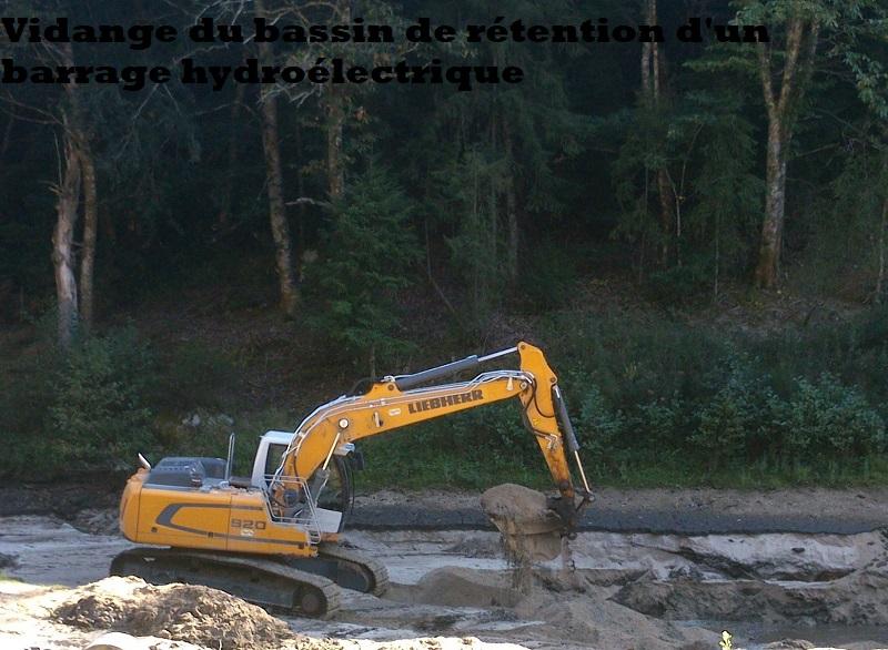 Vidange du bassin de retentention d'un barrage
