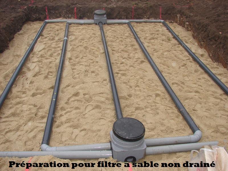 Préparation pour filtre a sable non drainé