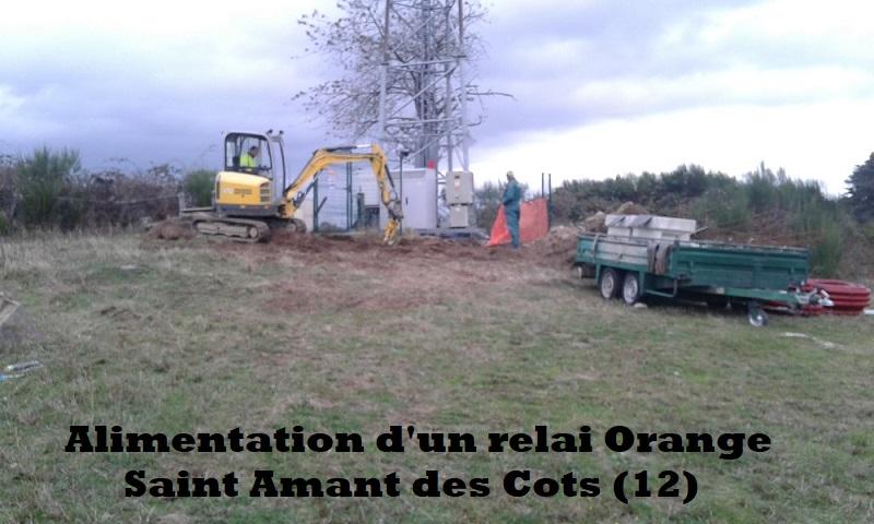Alimentation d'un relai Orange Saint Amant des Cots (12)
