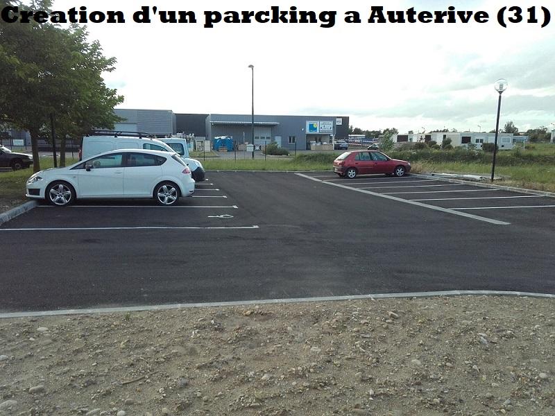 Création d'un parcking a Auterive (31)