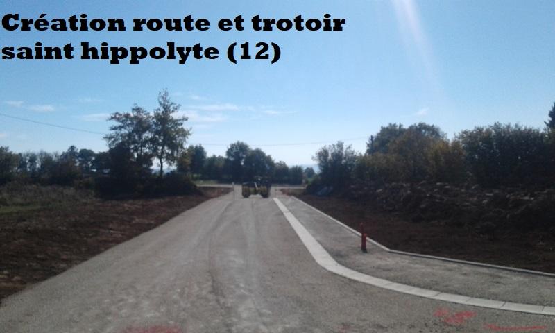 Création route et trotoir saint hippolyte